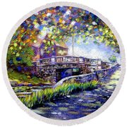 Huband Bridge Dublin City Round Beach Towel