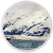 Hubbard Glacier Alaska Wilderness Round Beach Towel