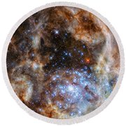 Hubble Finds Massive Stars Round Beach Towel
