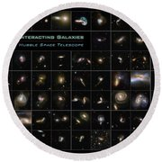 Hubble Galaxy Poster Round Beach Towel