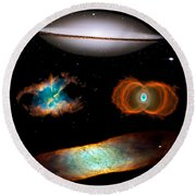 Hubble Greatest Hits Round Beach Towel