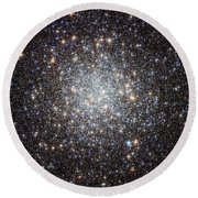 Hubble Image Of Messier 9 Round Beach Towel