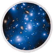 Hubble Sees Ghost Light From Dead Galaxies Round Beach Towel