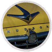Hudson Hood Ornament And Logo Round Beach Towel