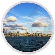 Hudson Waterfront Round Beach Towel
