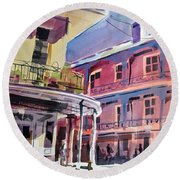 Hues Of The French Quarter Round Beach Towel