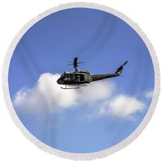 Huey Helicopter Round Beach Towel