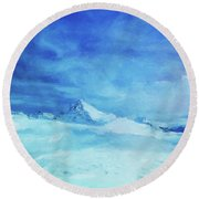 Huge And Blue Round Beach Towel