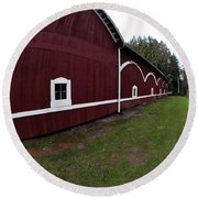 Huge Barn Round Beach Towel