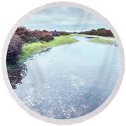 Huge Puddle Round Beach Towel