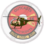 Hughes Oh-6a Electric Olive II Round Beach Towel