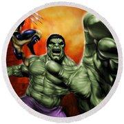 Hulk Round Beach Towel