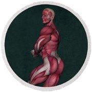 Human Anatomy 23 Round Beach Towel