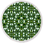 Human Angels Abstract Round Beach Towel