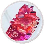 Human Heart Pa Round Beach Towel