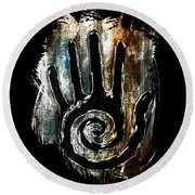 Humanity Native Symbol Round Beach Towel