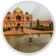 Humayun's Tomb 01 Round Beach Towel