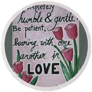 Humble Round Beach Towel