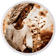 Humble Woman Round Beach Towel