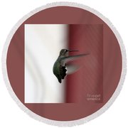 Hummingbird Changing Course Round Beach Towel