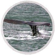 Humpback Whale Flute Alaska Round Beach Towel