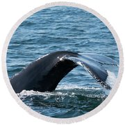 Humpback Whale Of A Tail Round Beach Towel
