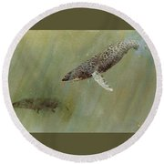 Humpbacks Round Beach Towel