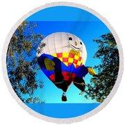 Humpty Dumpty Balloon Round Beach Towel