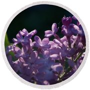 Hungarian Lilac 5 Round Beach Towel