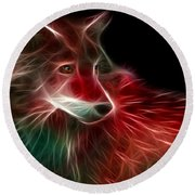 Hunger Prowl Round Beach Towel