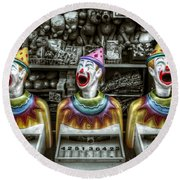 Hungry Clowns Round Beach Towel