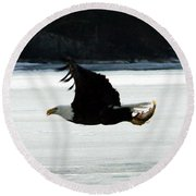 Hungry Eagle Round Beach Towel