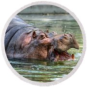 Hungry Hungry Hippo Round Beach Towel