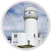 Hunstanton Lighthouse Round Beach Towel