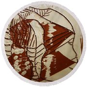 Hunter - Tile Round Beach Towel