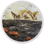 Hunting Round Beach Towel