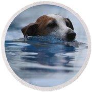 Hunting Dog Round Beach Towel