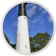 Hunting Island Lighthouse South Carolina Round Beach Towel