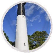 Hunting Island Lighthouse South Carolina Round Beach Towel