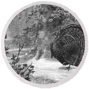 Hunting: Wild Turkey, 1886 Round Beach Towel