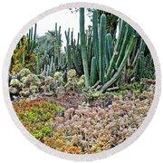 Huntington Desert Garden In San Marino-california Round Beach Towel