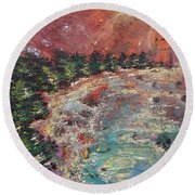 Huntington Lake Round Beach Towel