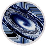 Hurricane In Space Abstract Round Beach Towel