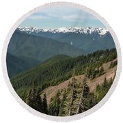 Hurricane Ridge View Round Beach Towel