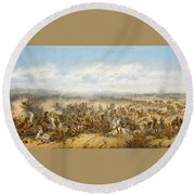 Hussars At The Battle Round Beach Towel