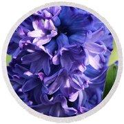 Hyacinth Highlights Round Beach Towel