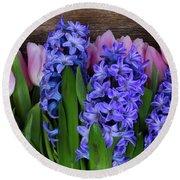 Hyacinths And Tulips II Round Beach Towel
