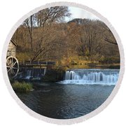 Hyde Mill Wisconsin Round Beach Towel