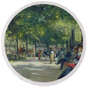 Hyde Park - London  Round Beach Towel