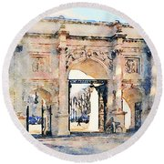 Hyde Park Entrance Round Beach Towel